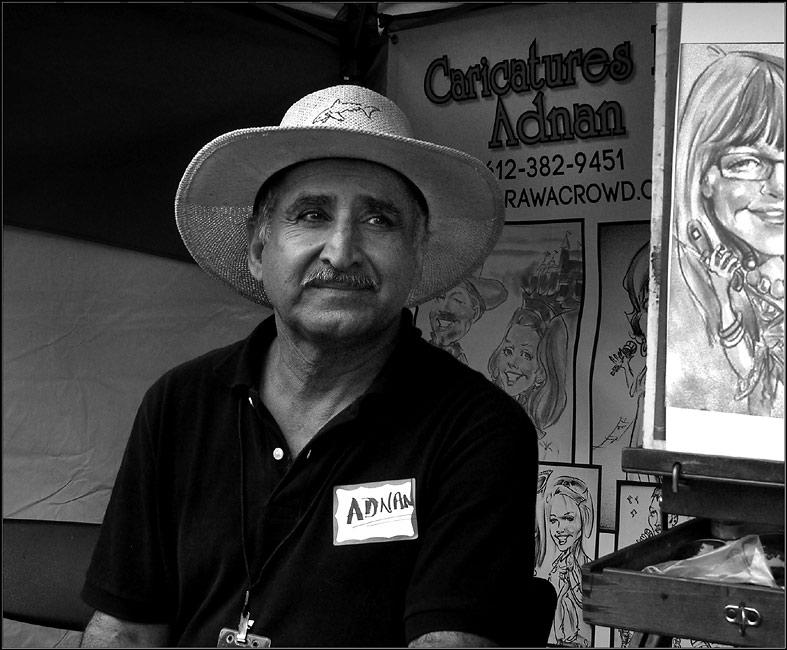 Artist Adnan Shati