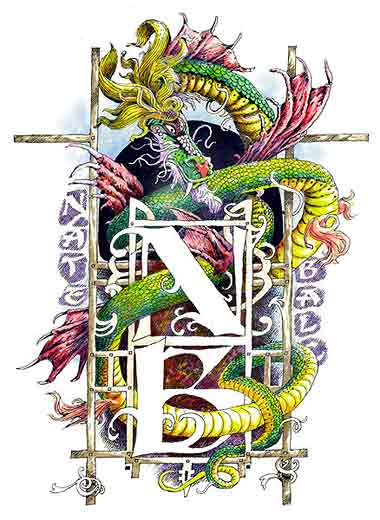 Dragon. Tatoo design