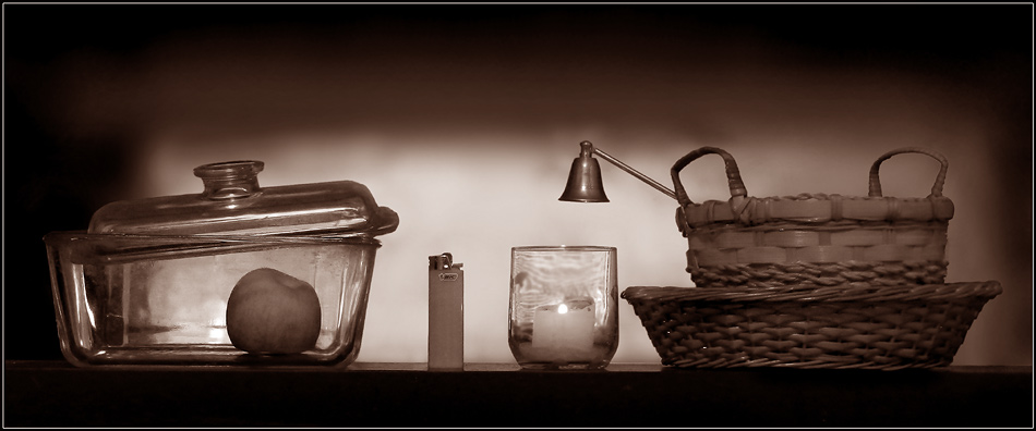 Seven things in sepia