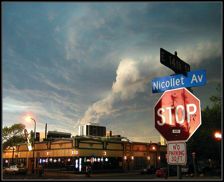 Tornado above Nicollet Avenue
