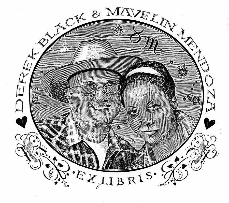 Ex libris Derek Black & Mavelin Mendoza