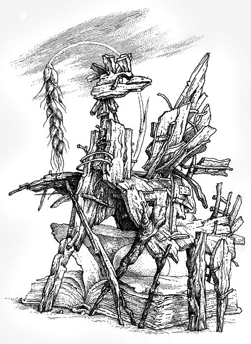 Sketch. Year Of Wooden Horse